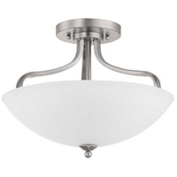 Progress P350136-009 Laird 3 Light 16 inch Brushed Nickel Semi-Flush Mount Ceiling Light Pendant Convertible