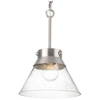 Point Dume Tapia Trail 1 Light 12 inch Brushed Nickel Semi-Flush Convertible Ceiling Light, Jeffrey Alan Marks, Design Series