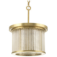 Point Dume Sequit Point 3 Light 14 inch Brushed Brass Semi-Flush Convertible Ceiling Light, Jeffrey Alan Marks, Design Series