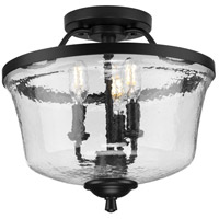Progress P350148-031 Bowman 3 Light 14 inch Matte Black Semi-Flush Convertible Ceiling Light