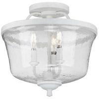 Progress P350148-151 Bowman 3 Light 14 inch Cottage White Semi-Flush Convertible Ceiling Light
