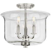 Progress P350153-009 Winslett 3 Light 14 inch Brushed Nickel Semi-Flush Convertible Ceiling Light