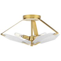 Progress P350158-109 Rae 3 Light 18 inch Brushed Bronze Semi-Flush Mount Convertible Ceiling Light Design Series