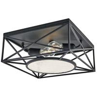 Progress P350159-031 Cumberland 2 Light 13 inch Matte Black Flush Mount Ceiling Light, Design Series