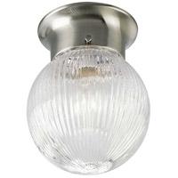 Progress P3599-09 Glass Globes 1 Light 6 inch Brushed Nickel Flush Mount Ceiling Light