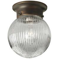 Progress P3599-20 Glass Globes 1 Light 6 inch Antique Bronze Flush Mount Ceiling Light