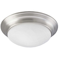 Progress P3688-09 Alabaster Glass 1 Light 12 inch Brushed Nickel Flush Mount Ceiling Light in Swirled Alabaster photo thumbnail