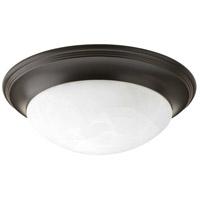 Progress P3688-20 Alabaster Glass 1 Light 12 inch Antique Bronze Flush Mount Ceiling Light