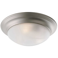 Progress P3697-09 Alabaster Glass 3 Light 17 inch Brushed Nickel Flush Mount Ceiling Light in Etched Alabaster photo thumbnail