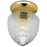 Progress P3750-10 Glass Globes 1 Light 6 inch Polished Brass Flush Mount Ceiling Light
