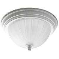 Progress P3816-30 Melon 1 Light 11 inch White Flush Mount Ceiling Light in Textured White, Standard