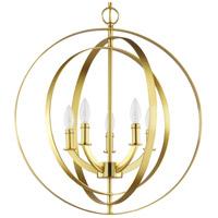 Progress P3841-12 Equinox 5 Light Satin Brass Pendant Ceiling Light