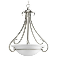 Progress P3847-09 Torino 3 Light 22 inch Brushed Nickel Foyer Pendant Ceiling Light in Etched