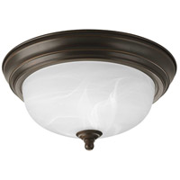 "Progress P3924-20 Dome Glass CTC 1 Light 11 inch Antique Bronze Flush Mount Ceiling Light in 11-3/8"", Alabaster Glass, Standard"