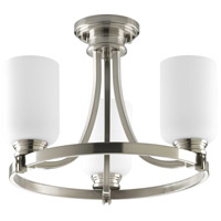 Progress P3954-09 Orbitz 3 Light 17 inch Brushed Nickel Semi-Flush Mount Convertible Ceiling Light