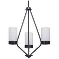 Progress P400021-031 Elevate 3 Light 22 inch Black Chandelier Ceiling Light Design Series