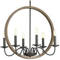 Progress P400081-020 Fontayne 6 Light 22 inch Antique Bronze Chandelier Ceiling Light Design Series
