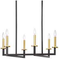 Progress P400113-143 Blakely 6 Light 28 inch Graphite Linear Chandelier Ceiling Light Design Series
