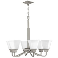 Progress P400119-009 Clifton Heights 6 Light 26 inch Brushed Nickel Chandelier Ceiling Light