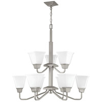 Progress P400120-009 Clifton Heights 9 Light 30 inch Brushed Nickel Chandelier Ceiling Light