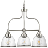 Saluda 3 Light 24 inch Brushed Nickel Chandelier Ceiling Light