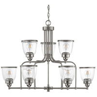 Saluda 9 Light 34 inch Brushed Nickel Chandelier Ceiling Light