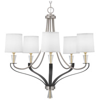 Progress P400141-009 Nealy 5 Light 28 inch Brushed Nickel Chandelier Ceiling Light