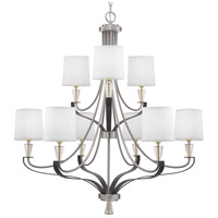 Progress P400142-009 Nealy 9 Light 36 inch Brushed Nickel Chandelier Ceiling Light