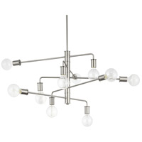 Calder 10 Light 39 inch Brushed Nickel Chandelier Ceiling Light, Design Series