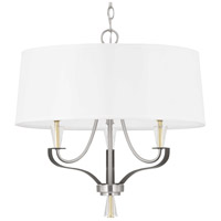 Progress P400150-009 Nealy 3 Light 22 inch Brushed Nickel Chandelier Ceiling Light