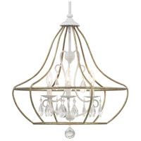 Progress P400151-151 Fleurette 3 Light 22 inch Cottage White Chandelier Ceiling Light