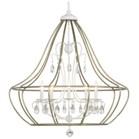 Fleurette 5 Light 32 inch Cottage White Chandelier Ceiling Light