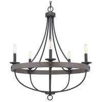 Gulliver 5 Light 26 inch Graphite Chandelier Ceiling Light