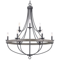 Progress P400159-143 Gulliver 9 Light 35 inch Graphite Chandelier Ceiling Light