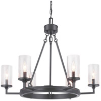 Progress P400164-143 Gresham 6 Light 28 inch Graphite Chandelier Ceiling Light Design Series