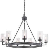 Gresham 9 Light 36 inch Graphite Chandelier Ceiling Light, Design Series