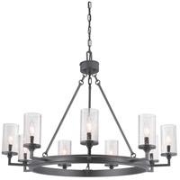 Progress P400165-143 Gresham 9 Light 36 inch Graphite Chandelier Ceiling Light Design Series
