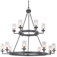 Gresham 15 Light 47 inch Graphite Chandelier Ceiling Light, Design Series
