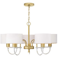 Progress P400172-078 Rigsby 5 Light 32 inch Vintage Gold Chandelier Ceiling Light Design Series