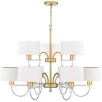 Progress P400173-078 Rigsby 9 Light 36 inch Vintage Gold Chandelier Ceiling Light Design Series