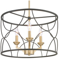 Progress P400177-031 Landree 3 Light 18 inch Black Chandelier Ceiling Light