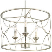 Progress P400177-134 Landree 3 Light 18 inch Silver Ridge Chandelier Ceiling Light