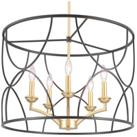 Landree 5 Light 23 inch Black Chandelier Ceiling Light
