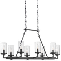 Progress P400180-143 Gresham 8 Light 38 inch Graphite Chandelier Ceiling Light Design Series