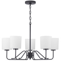 Progress P400182-031 Tobin 5 Light 28 inch Black Chandelier Ceiling Light
