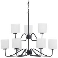 Progress P400183-031 Tobin 9 Light 32 inch Black Chandelier Ceiling Light