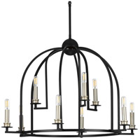 Progress P400187-031 Seneca 9 Light 30 inch Black Chandelier Ceiling Light