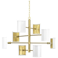 Point Dume Wandermere 8 Light 40 inch Brushed Brass Chandelier Ceiling Light, Jeffrey Alan Marks, Design Series