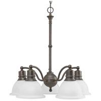 Progress P4281-20 Madison 5 Light 25 inch Antique Bronze Chandelier Ceiling Light