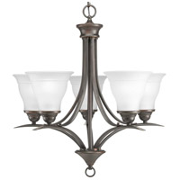 Progress P4328-20 Trinity 5 Light 23 inch Antique Bronze Chandelier Ceiling Light in Bulbs Not Included Standard
